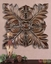 Four Leaves Traditional Chestnut Brown Wall Plaque  13530