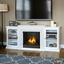 Frederick Entertainment Center Ventless Gel Fireplace In White, 72x30