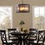 Frost Industrial Modern Frosted Cover Chandelier With Steel Trim, Black