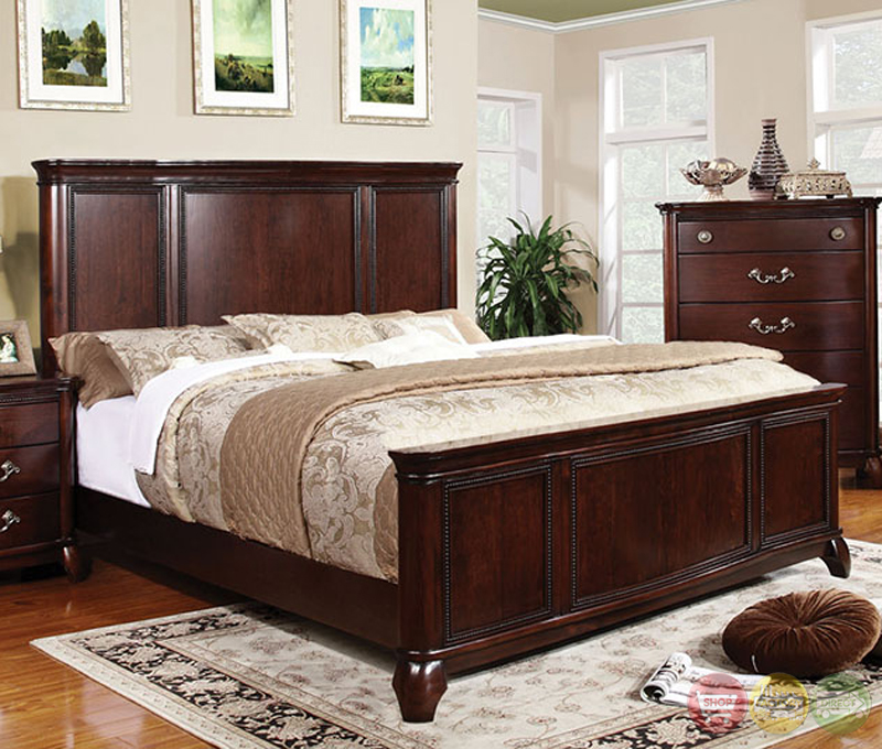claymont traditional cherry bedroom set with large raised panel