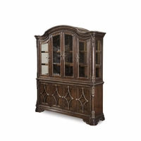 Gables Antique Cherry China Cabinet with Distressed Mirror Back