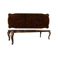 Gables Cabriole Dining Table in Exotic Dark Cherry Crotch Okume Veneer