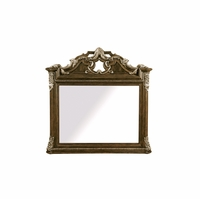 Gables Ornate Dark Cherry Dresser Mirror With Crotch Okume Veneer