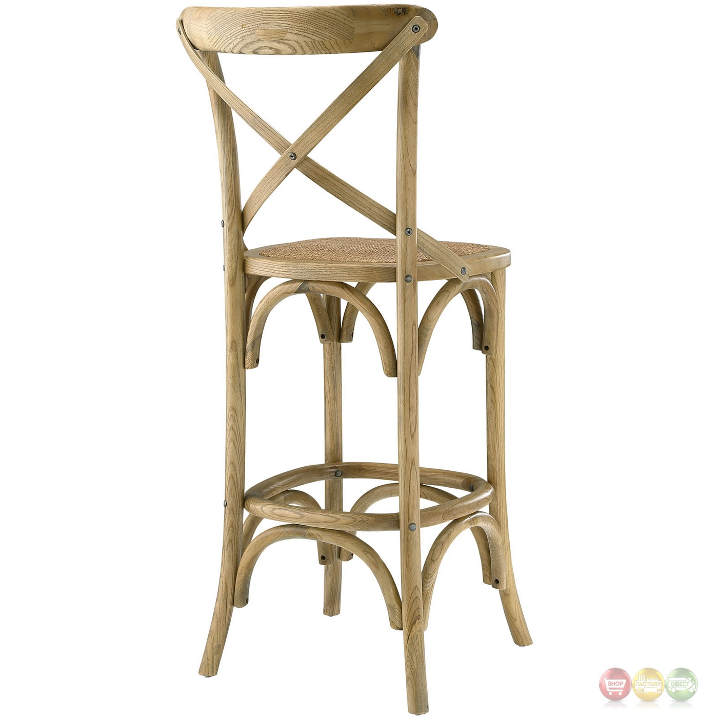 Superb img of  Country inspired Bar Stool w/ Rattan Seat & Tapered Legs Natural with #963537 color and 1400x1400 pixels