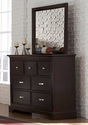 Glamour Espresso Finish Bedroom Furniture Set