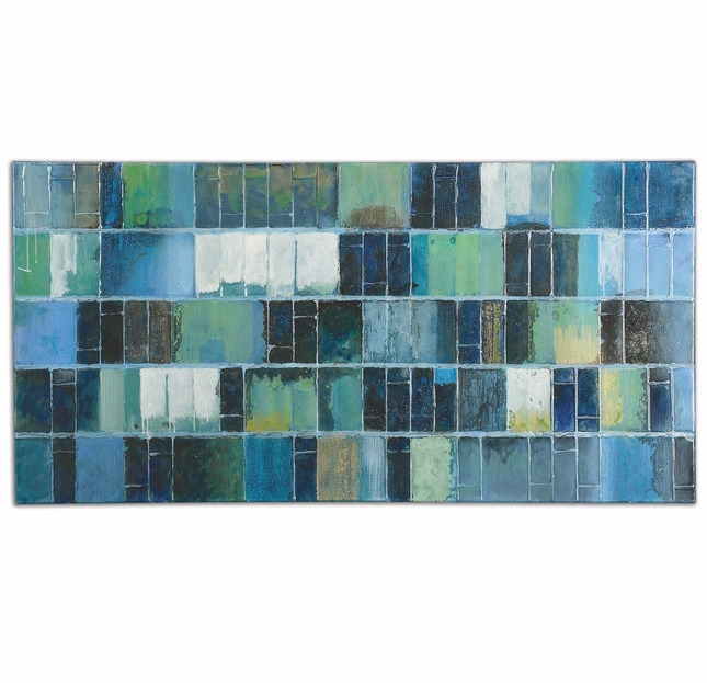 Glass Tiles Hand Painted Oil On Canvas Art 34300
