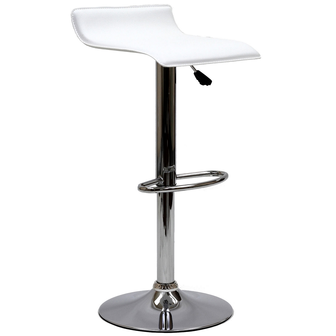 Gloria Modern Adjustable Vinyl Bar Stool W Chrome Base