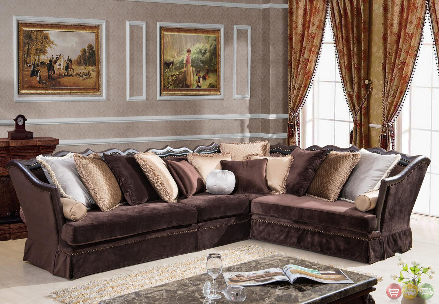 Godiva Formal Antique Style Traditional Living Room Furniture