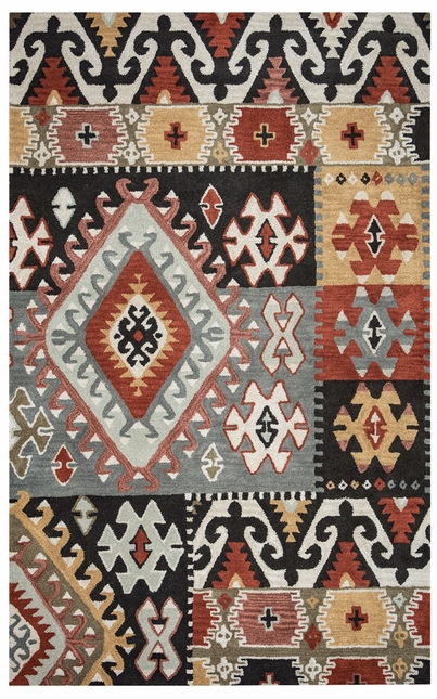 Rizzy Rugs Gray Southwest Hand Tufted Area Rug Southwest SU8104