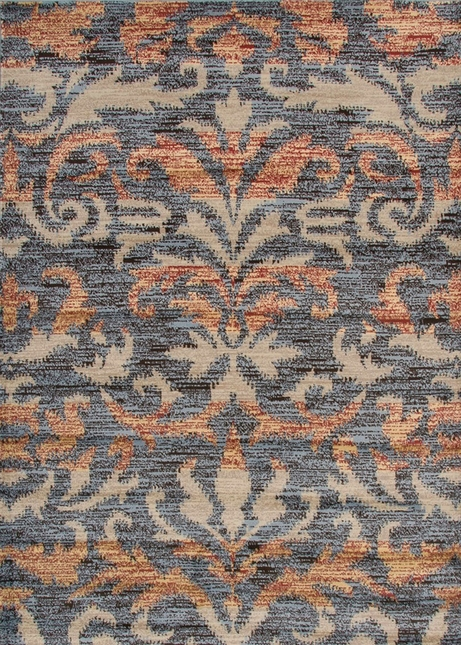 Rizzy Rugs Gray Traditional Power Loomed Area Rug Bayside BS3596