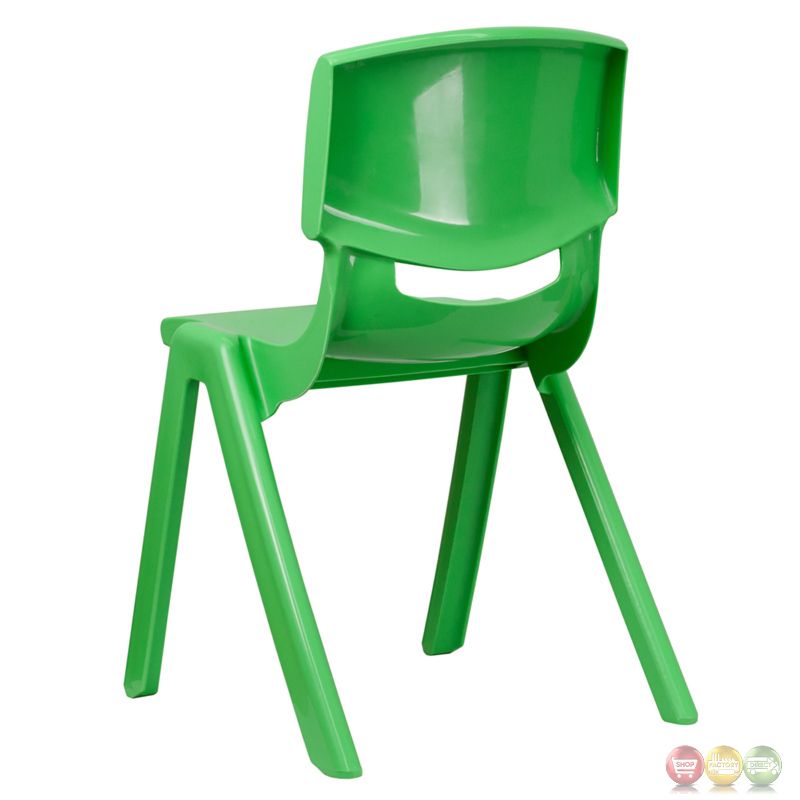 green plastic stackable school chair with 18 inch seat height yu ycx