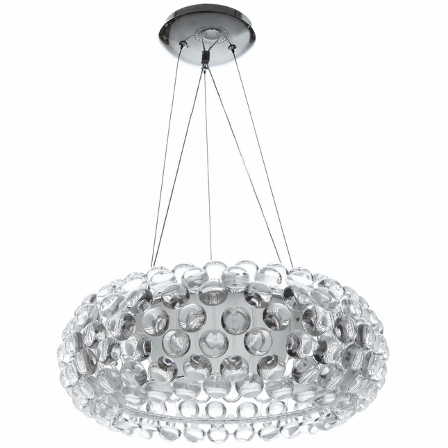 """Halo Contemporary Halo-inspired 20"""" Acrylic Pendant Chandelier, Clear"""