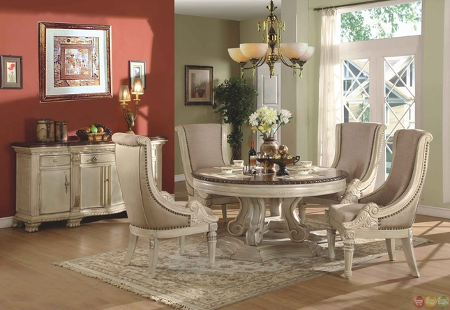 Round White Dining Room Sets