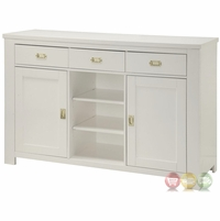 Hampshire 3-Drawer Sideboard With White Finish