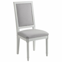 Hampshire Grey French Square Side Chair, Set of 2