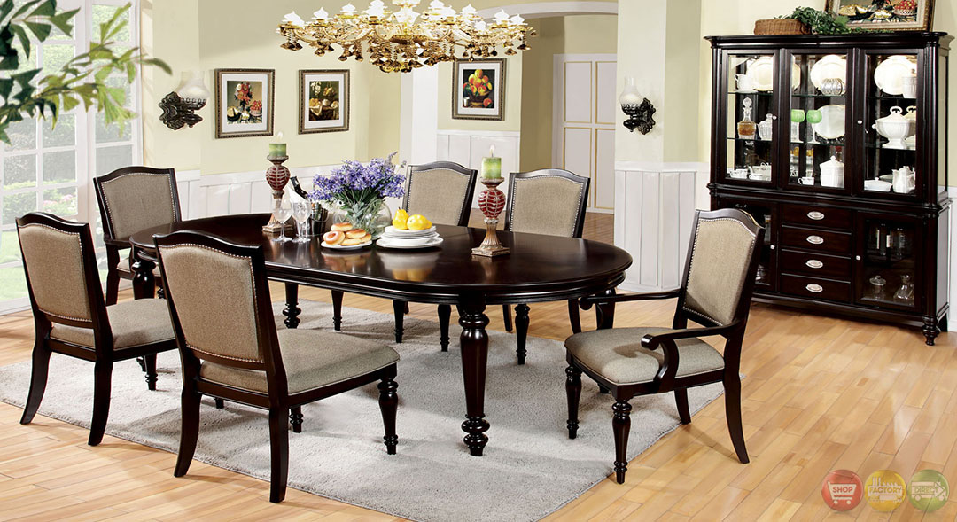 9 piece dining set with leaf collections