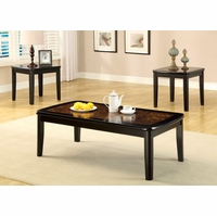 Hartly Contemporary Black Accent Tables Set