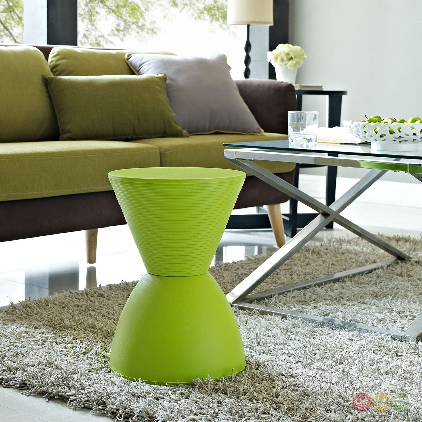 Haste Modern Multi Purpose Storage Stool Green