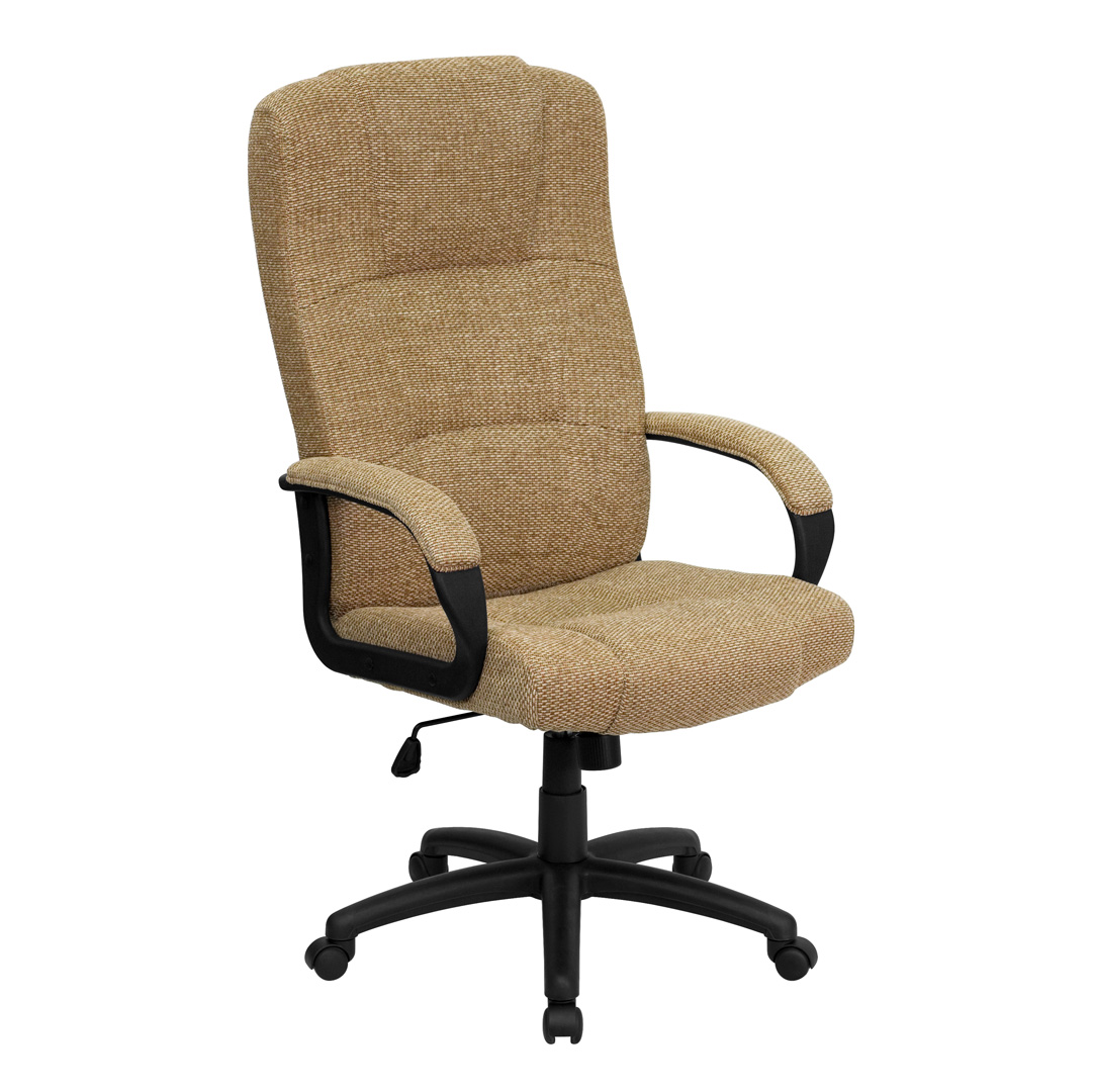 High Back Beige Fabric Executive fice Chair BT 9022 BGE GG