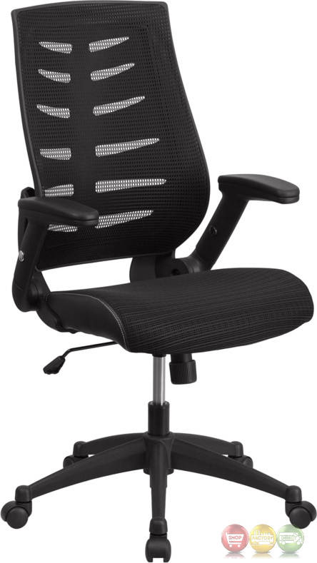 high back black designer mesh executive swivel office chair w