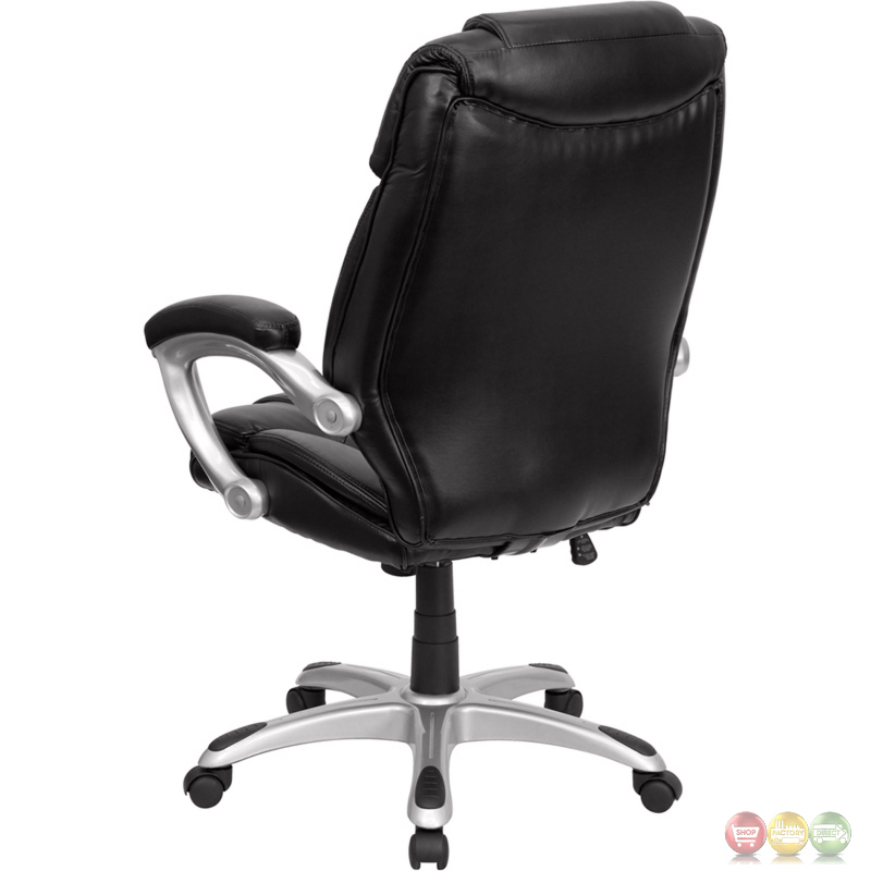 high back black leather executive office chair go 931h bk gg