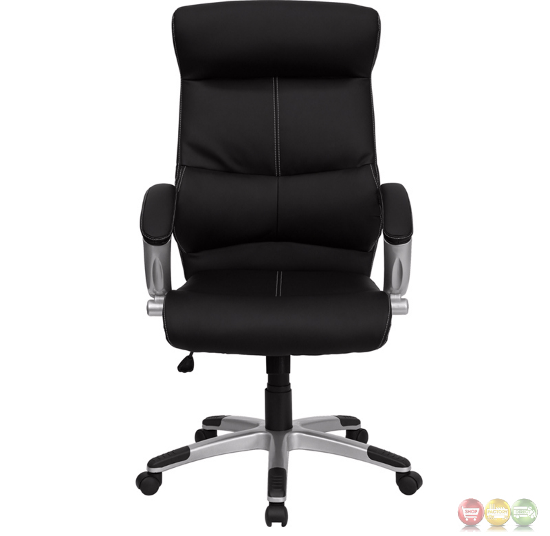 High Back Black Leather Executive Office Chair H 9637L 1C HIGH GG