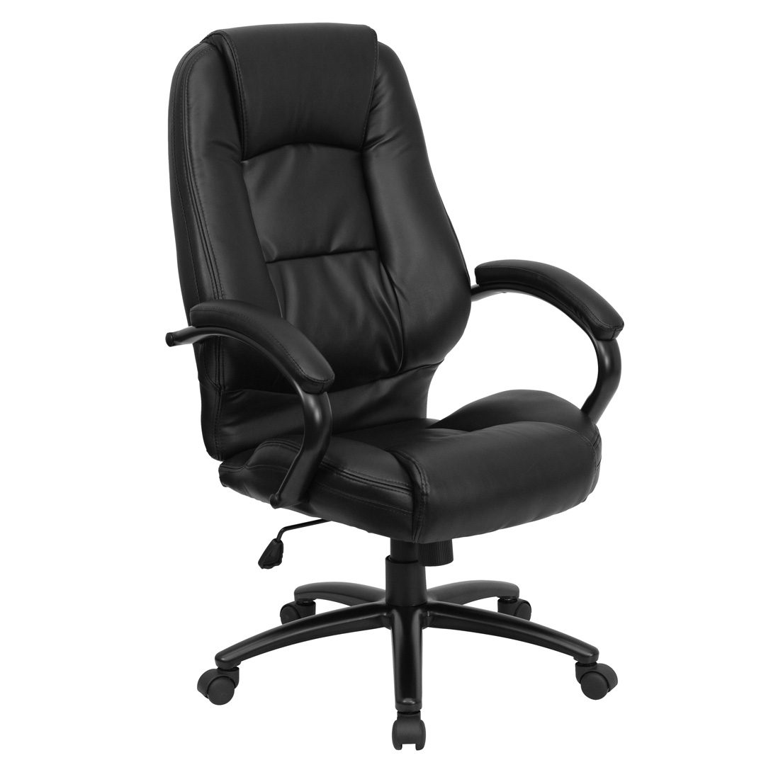 High Back Black Leather Executive Office Chair GO 710 BK GG