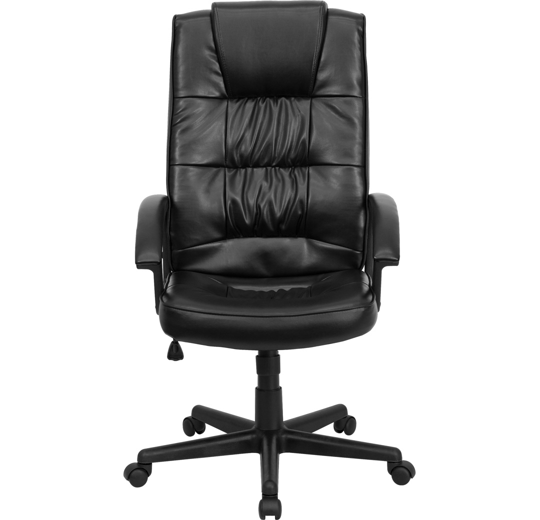 High Back Black Leather Executive Office Chair GO 7102 GG