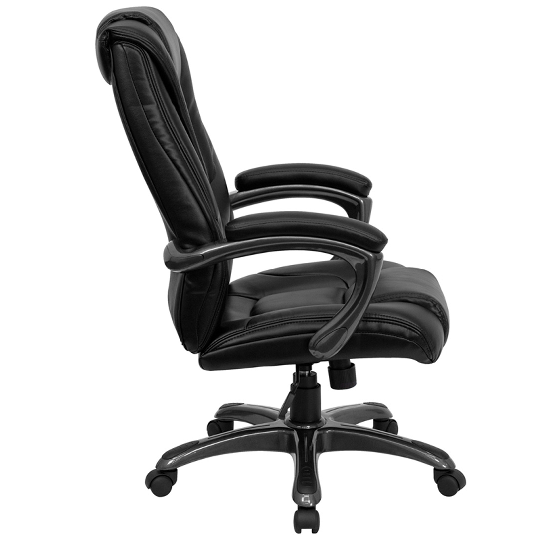 High Back Black Leather Executive Office Chair GO 7194B BK GG