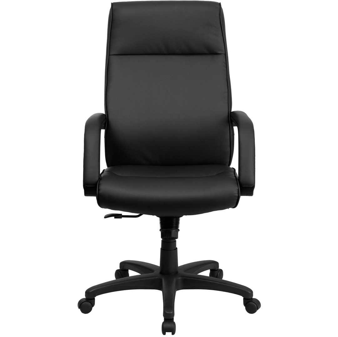 High Back Black Leather Executive Office Chair with Memory ...