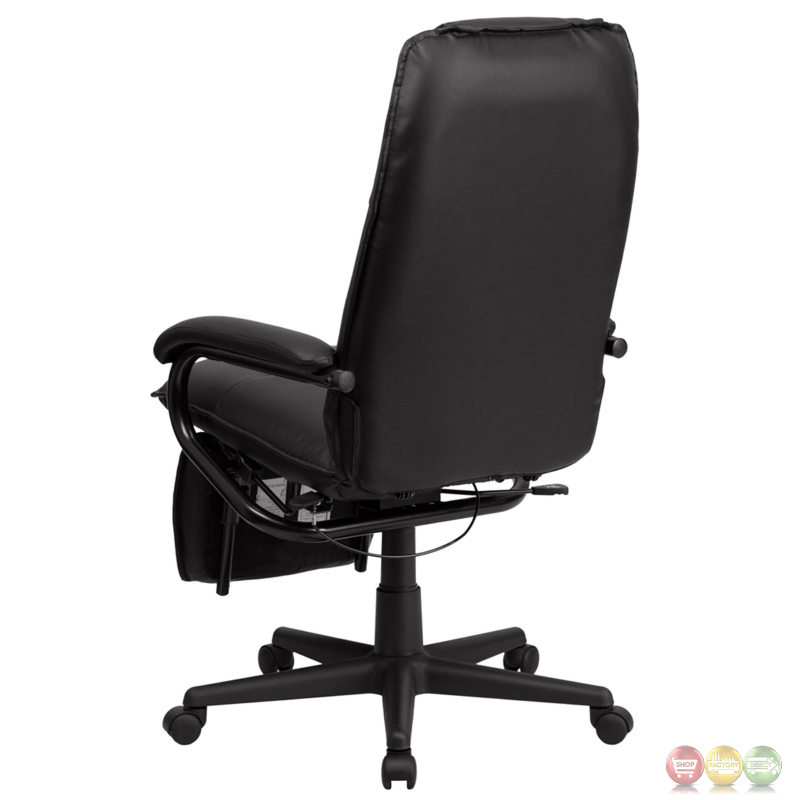 high back black leather executive reclining office chair bt 70172 bk