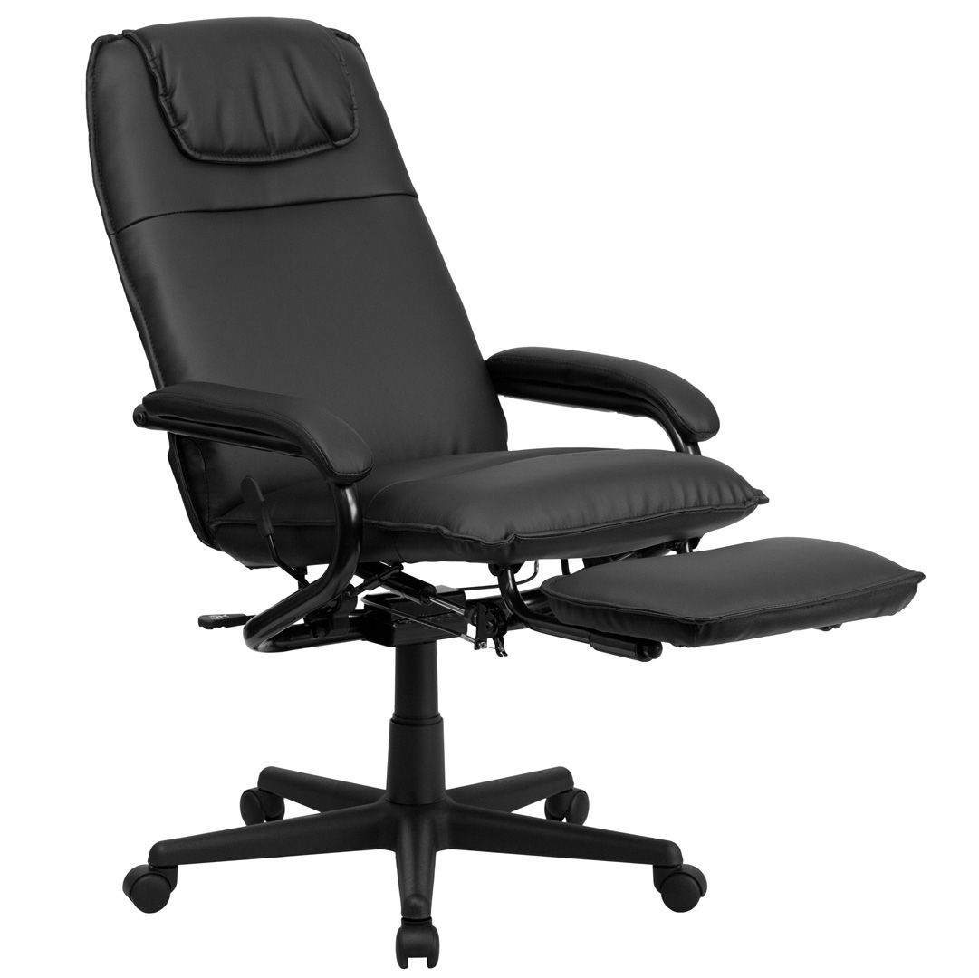 High Back Black Leather Executive Reclining Office Chair BT 70172 BK GG