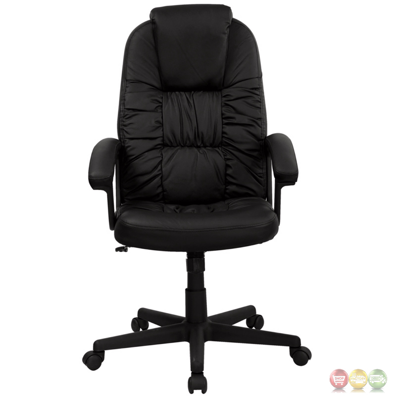 high back black leather executive swivel office chair bt 983 bk gg