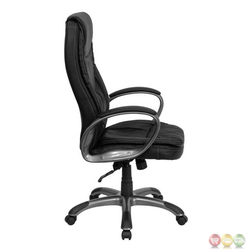 high back black leather executive swivel office chair ch cx0068h04 gg