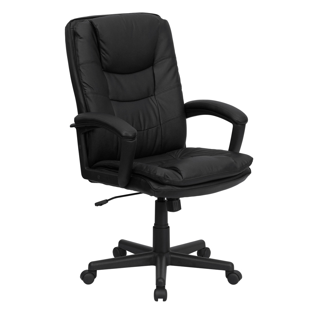 Flash Furniture High Back Black Leather Executive Office Chair Modern