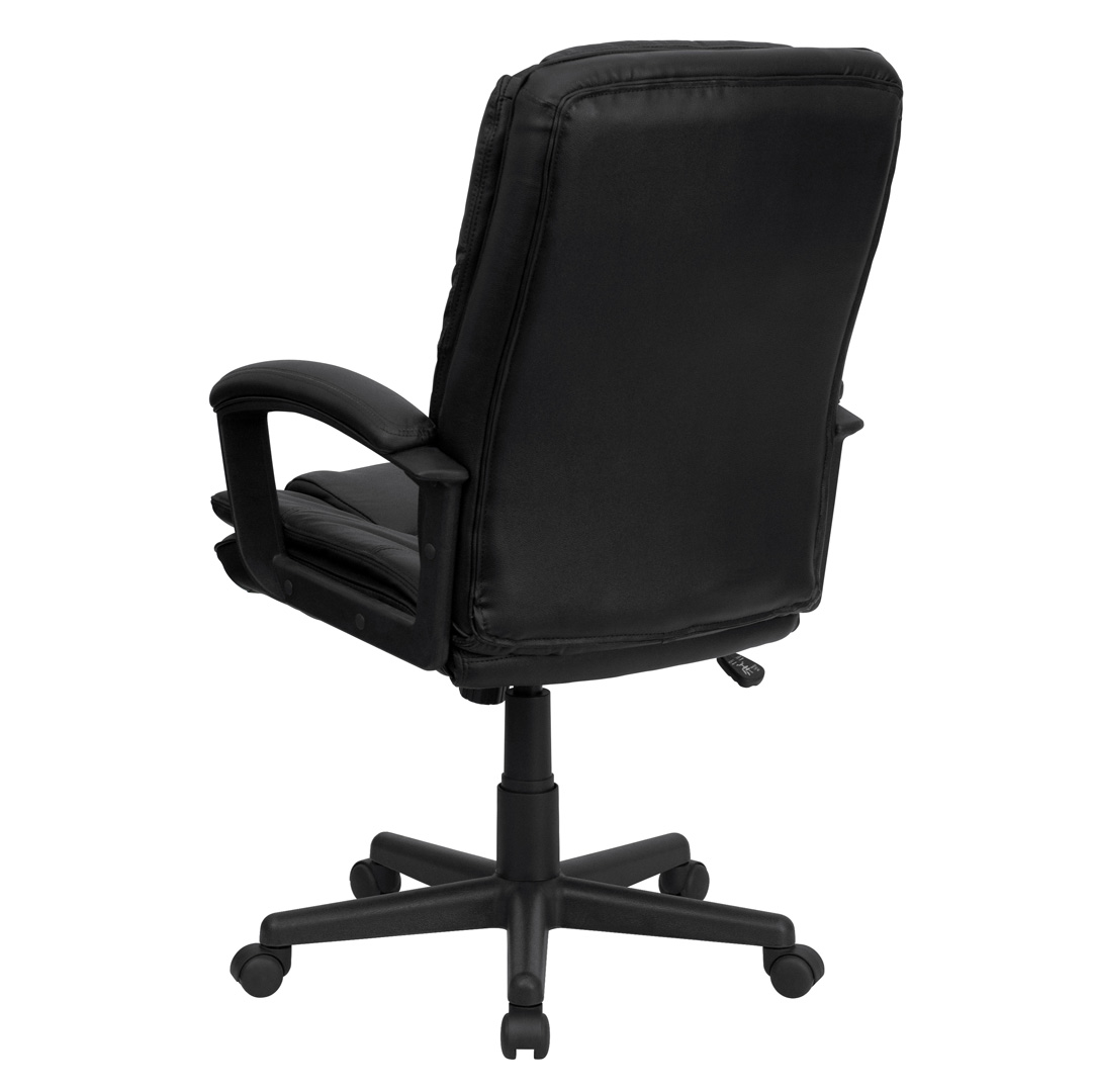 High Back Black Leather Executive Swivel fice Chair BT
