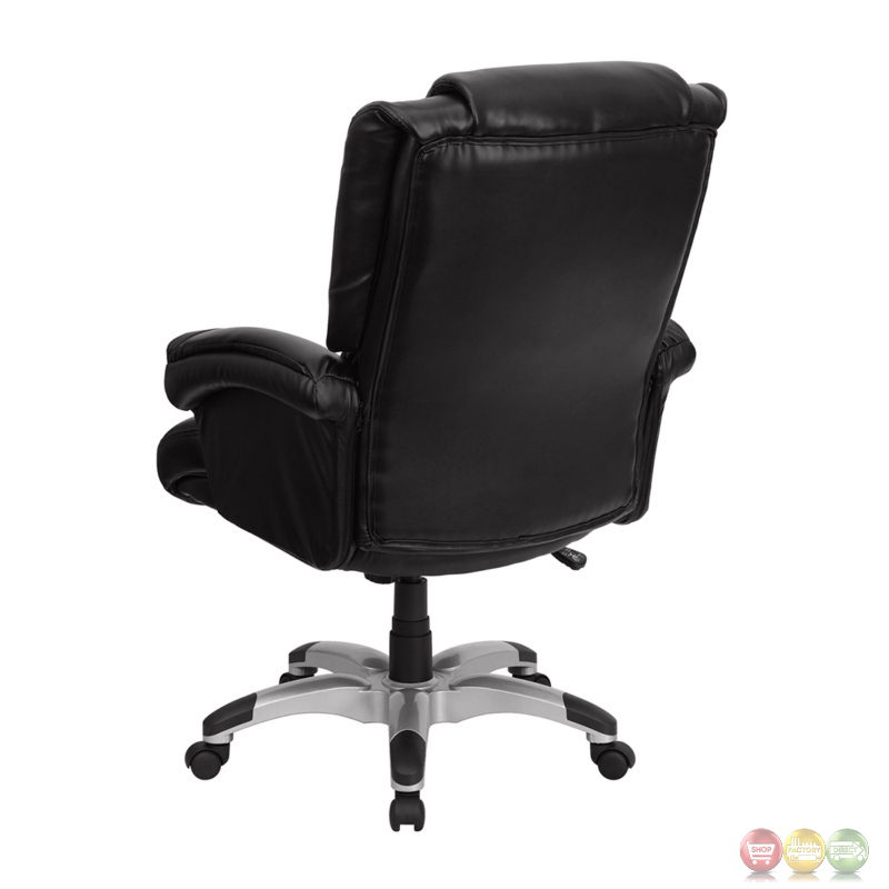 High Back Black Leather OverStuffed Executive Office Chair GO 958 BK GG