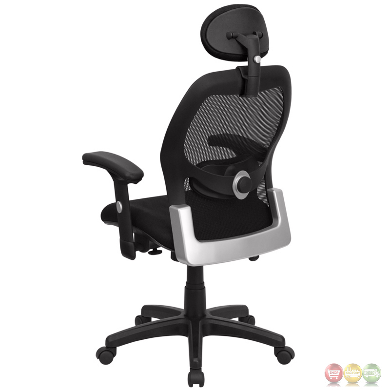 high back black super mesh executive swivel office chair with mesh