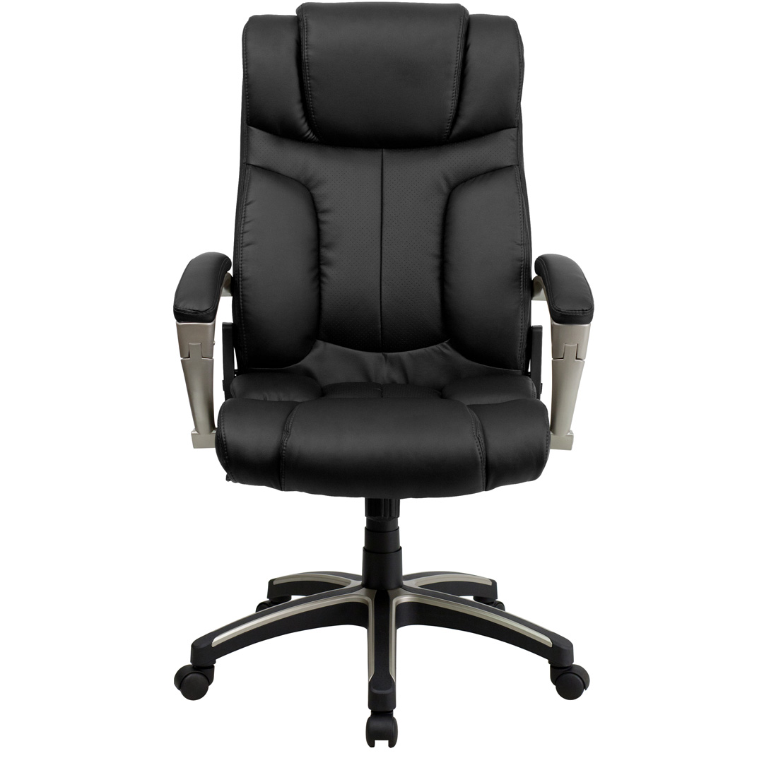 High Back Folding Black Leather Executive fice Chair BT