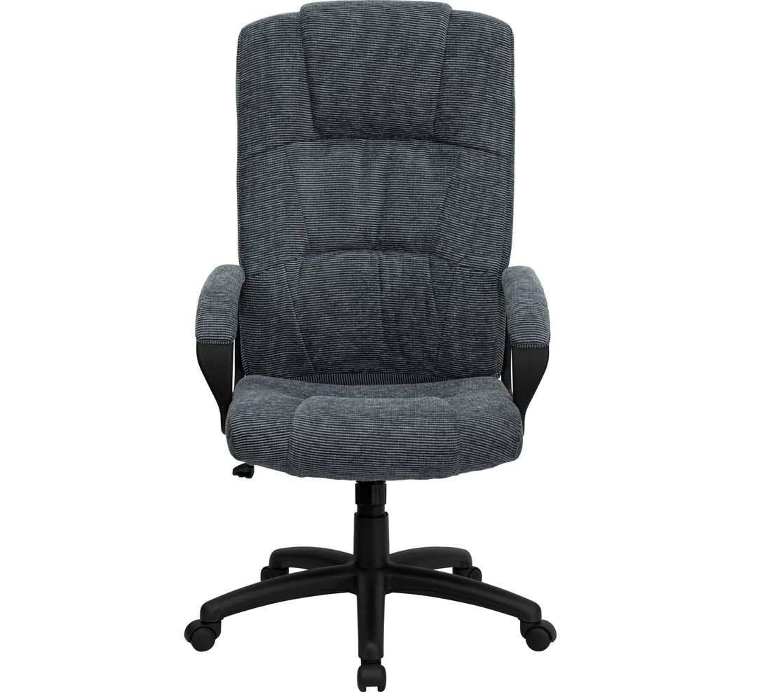High Back Gray Fabric Executive Office Chair BT 9022 BK GG