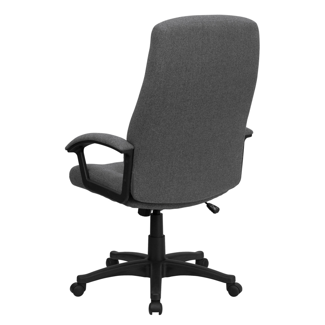 High Back Gray Fabric Executive Swivel Office Chair BT 134A GY GG