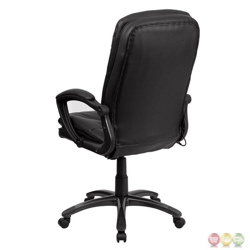 High Back Massaging Black Leather Executive Swivel fice