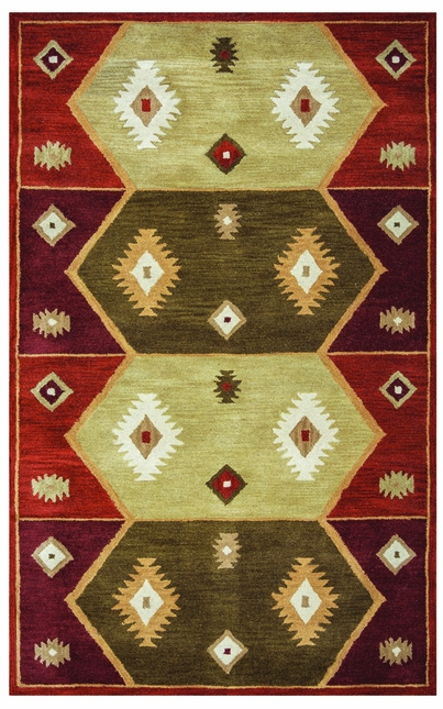 Rizzy Rugs Hopi Red Southwest Hand Tufted Area Rug Southwest SU1937