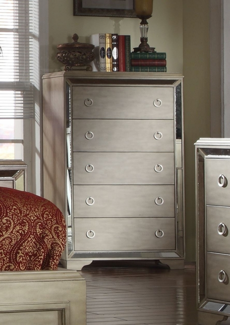 Imperial Contemporary Glamour 5-Drawer Chest In Pearl Beige