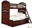 Impressions Clear Cherry Twin over Full Bunk Bed