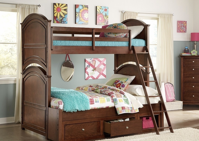 Impressions Clear Cherry Twin over Twin Bunk Bed