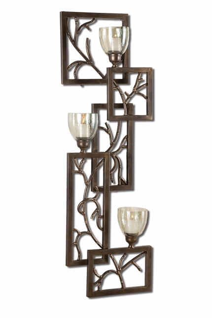 Iron Branches Traditional Dark Bronze Wall Sconce 19736