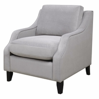Isabelle Soft Grey Upholstered Feather Down Chair