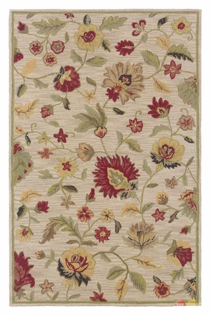 Rizzy Rugs Ivory Floral Hand Tufted Area Rug Dimensions DI1159