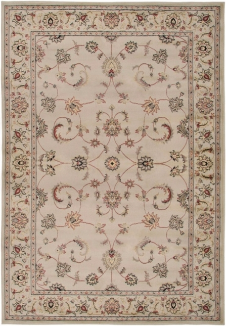 Rizzy Rugs Ivory Traditional Power Loomed Area Rug Bayside BS3580